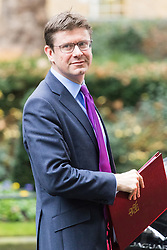 Downing Street, London, December 13th 2016. Business Secretary Greg Clark leaves the weekly meeting of the cabinet at Downing Street, London.