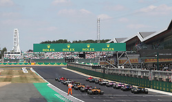 Start of the 2018 British Grand Prix at Silverstone Circuit, Towcester.