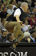 Marquette head coach Buzz Williams reacts to a play during the second half of an NCAA basketball game against Xavier in the Old Spice Classic tournament in Lake Buena Vista, Fla., Thursday, Nov. 26, 2009.