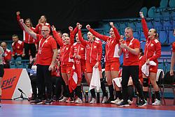 KOLDING, DENMARK - DECEMBER 5: Arne Senstad, head coach of Poland, during the EHF Euro 2020 Group D match between Poland and Romania in Sydbank Arena, Kolding, Denmark on December 5, 2020. Photo Credit: Allan Jensen/EVENTMEDIA.