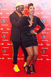 © Licensed to London News Pictures. 03/01/2019. London, UK. WILL.I.AM and JENNIFER HUDSON attends the The Voice UK 2019 ITV press launch. Photo credit: Ray Tang/LNP