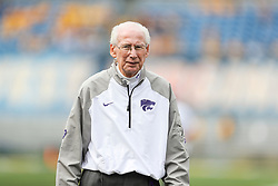 Sep 22, 2018; Morgantown, WV, USA; Kansas State Wildcats head coach Bill Snyder watches on before their game against the West Virginia Mountaineers at Mountaineer Field at Milan Puskar Stadium. Mandatory Credit: Ben Queen-USA TODAY Sports