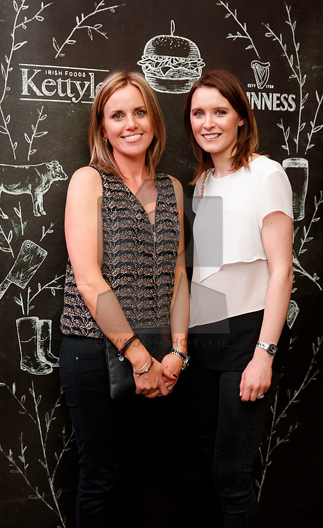 Repro Free: 04/04/2017<br /> Helen Kettyle and Corrie Cadden pictured at an event in the Open Gate Brewery to celebrate the new partnership between multi award winning meat supplier, Kettyle Irish Foods™ and beer giant, Guinness®. Guests from all touchpoints in the food industry were treated to a four-course tasting menu paired with traditional and experimental Guinness® brews as well as a carving masterclass with international butchers and a BBQ cookery demo. @KettyleIrishFoods @HomeofGuinness #GuinnessKettyleBBQ Picture Andres Poveda