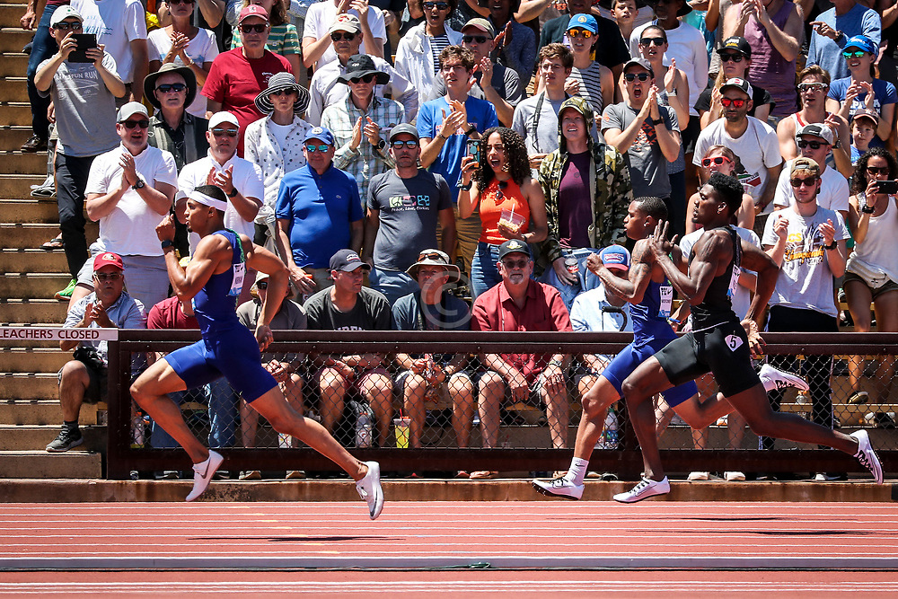 Michael Norman, USA,  wins 400 meters by large margin 2019 The Prefontaine Classic Track & Field<br /> IAAF Diamond League