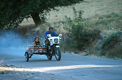 TURKEY DIYARBAKIR JUL02 - A famer couple race their way into Diyarbakir, the unofficial Kurdish capital on Turkish territory...jre/Photo by Jiri Rezac..© Jiri Rezac 2002..Contact: +44 (0) 7050 110 417.Mobile:  +44 (0) 7801 337 683.Office:  +44 (0) 20 8968 9635..Email:   jiri@jirirezac.com.Web:     www.jirirezac.com