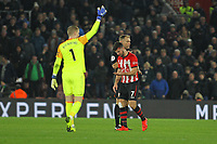 Football - 2018 / 2019 Premier League - Southampton vs. Everton<br /> <br /> Southampton's Shane Long questions Referee Mr Graham Scott after the official didn't stop play for his head injury at St Mary's Stadium Southampton<br /> <br /> COLORSPORT/SHAUN BOGGUST
