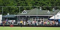 HUIZEN - Clubhuis Huizer HC bij de eerste play off wedstrijd voor promotie naar de hoofdklasse , Huizen-Nijmegen (3-2) COPYRIGHT KOEN SUYK