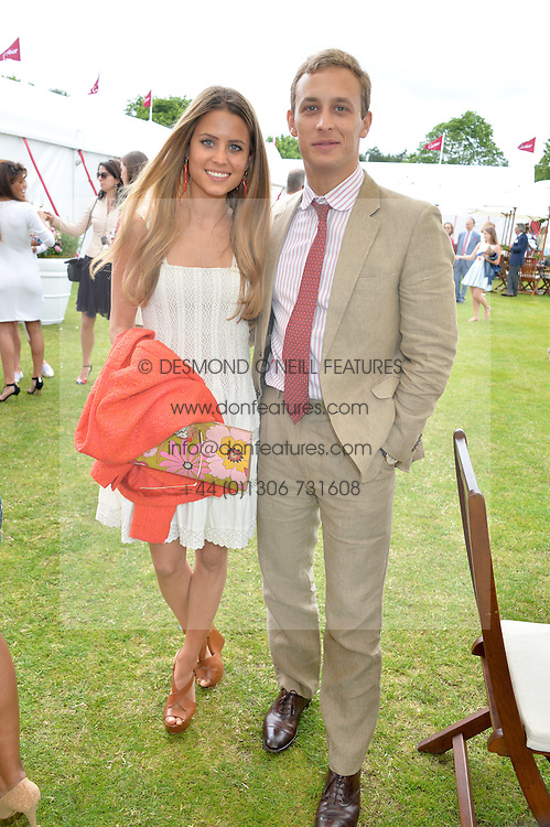 IRENE FORTE and FRANCESCO CIARDI at the Cartier Queen's Cup Final polo held at Guards Polo Club, Smith's Lawn, Windsor Great Park, Egham, Surrey on 15th June 2014.