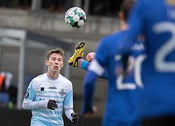 Dalton Wilkins (FC Helsingør) under træningskampen mellem FC Helsingør og HB Køge den 22. februar 2020 på Helsingør Ny Stadion (Foto: Claus Birch).