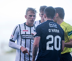 Dunfermline's Dean Shiels  and Falkirk's Kevin O'Hara have words. Falkirk 2 v 0 Dunfermline, Scottish Challenge Cup played 7/9/2017 at The Falkirk Stadium.