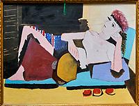 France, Paris (75), zone classée Patrimoine Mondial de l'UNESCO, les Tuileries, le musée de l'Orangerie, Femme au tambourin par Pablo Picasso, 1925 // France, Paris, les Tuileries, museum of Orangerie, Femme au tambourin by Pablo Picasso, 1925
