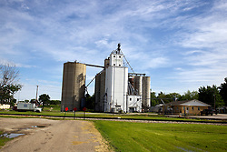 31 May 2013: Delavan Illinois Grain Elevator and Storage Facility  Scenery and flooding in Tazwell and Mason Counties in Illinois
