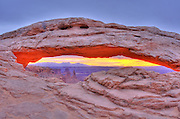 Sunrise on Mesa Arch, Island in the Sky, Canyonlands National Park, Utah