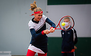 Marie Bouzkova of the Czech Republic in action against Kaia Kanepi of Estonia during the first round of the Roland Garros 2020, Grand Slam tennis tournament, on September 27, 2020 at Roland Garros stadium in Paris, France - Photo Rob Prange / Spain ProSportsImages / DPPI / ProSportsImages / DPPI