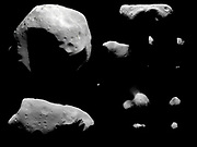 All of the asteroids and comets visited by spacecraft as of September 2008