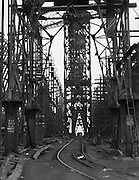 Cranes and Rails between Building Berths, Camwell Laird Shipyard, England, 1928