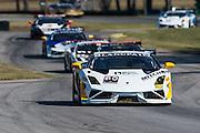 October 3-5, 2013. Lamborghini Super Trofeo - Virginia International Raceway. Racing action at VIR.