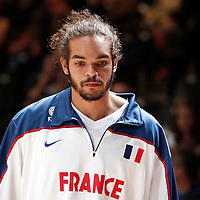 27 August 2011: Joakim Noah is seen during the friendly game won 74-44 by France over Belgium, in Lievin, France.