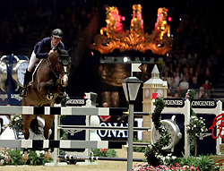 Britain's Scott Brash riding Hello Shelby competes in the Turkish Airlines Olympia Grand Prix during day seven of the London International Horse Show at London Olympia.