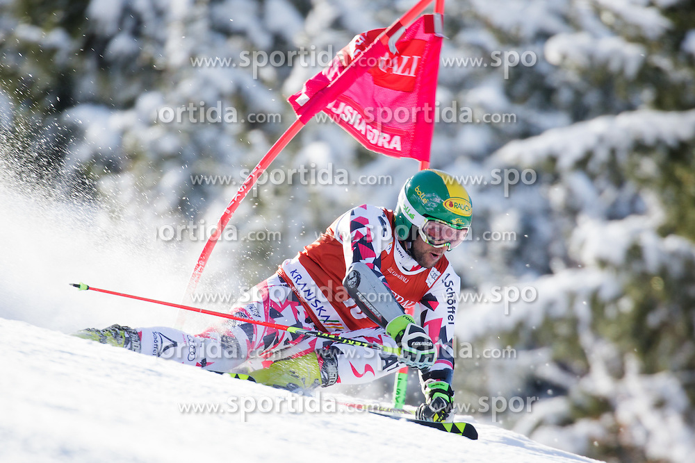 Philipp Schoerghofer (AUT) competes in 1st Run during Men Giant Slalom race of FIS Alpine Ski World Cup 55th Vitranc Cup 2015, on March 4, 2016 in Kranjska Gora, Slovenia. Photo by Ziga Zupan / Sportida