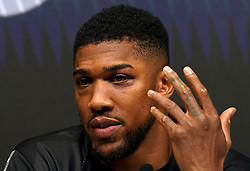 Close up of Anthony Joshua's injuries during a press conference after defeat in the WBA, WBO, IBF and IBO World Heavyweight titles match against Oleksandr Usyk at the Tottenham Hotspur Stadium. Picture date: Saturday September 25, 2021.