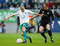 v.l. Andres D'Alessandro, Fabian Ernst Bremen<br /> Bundesliga VfL Wolfsburg - SV Werder Bremen