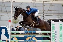Van Hoecke Katrijn, BEL, Looks Good de Liebri Z<br /> BK Young Horses 2020<br /> © Hippo Foto - Sharon Vandeput<br /> 6/09/20