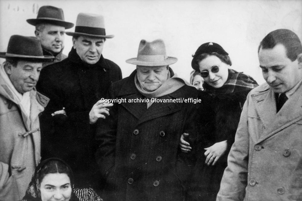 Aldo Palazzeschi, Carlo Bo, Giovanni Battista Angioletti, Giuseppe Ungaretti<br />archivio Giovannetti/effigie