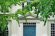 Charming colonial house exterior detail, Stonington, Connecticut, USA.