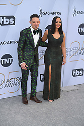 January 27, 2019 - Los Angeles, California, U.S - ANTHONY RAMOS AND JASMINE CEPHAS JONES during silver carpet arrivals for the 25th Annual Screen Actors Guild Awards, held at The Shrine Expo Hall. (Credit Image: © Kevin Sullivan via ZUMA Wire)