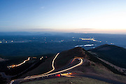 June 26-30 - Pikes Peak Colorado.  Traffic works it's way up the mountain before practice on Pikes Peak.