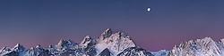 Sunrise, Full Moon,  Grand Tetons, Grand Teton National Park