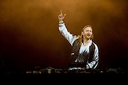 David Guetta performs during Suburbia Fest in Plano, Texas on May 4, 2014.