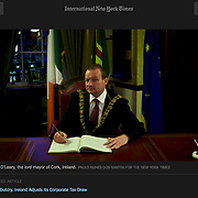 """Screengrab of """"Ireland Taxes"""" published in The New York Times"""