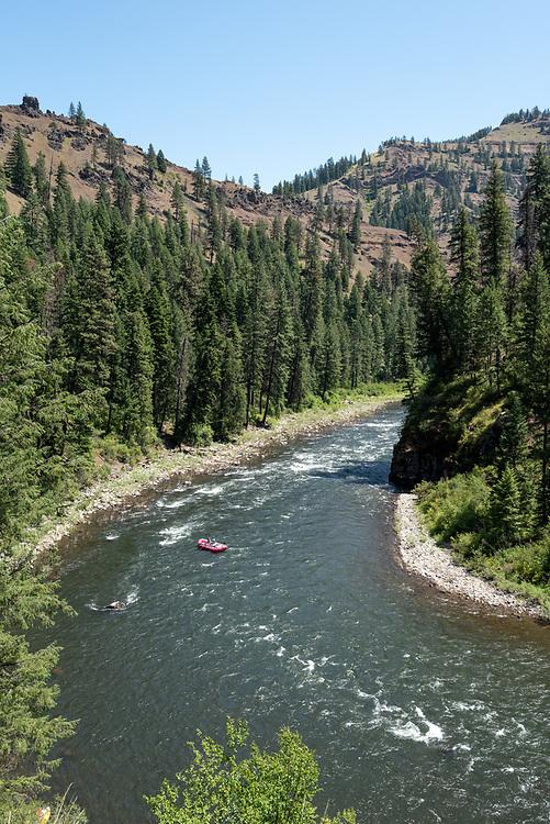 Rafting down the Grande Ronde River, Oregon.