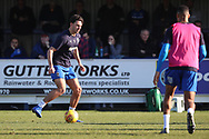 AFC Wimbledon defender Will Nightingale (5) warming upduring the EFL Sky Bet League 1 match between AFC Wimbledon and Charlton Athletic at the Cherry Red Records Stadium, Kingston, England on 23 February 2019.