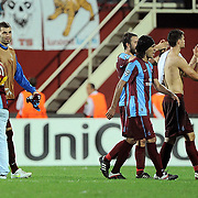 Trabzonspor's players during their UEFA Champions League group stage matchday 2 soccer match Trabzonspor between Lille at the Avni Aker Stadium at Trabzon Turkey on Tuesday, 27 September 2011. Photo by TURKPIX
