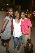 l to r: Janet Mcduffie, Dana Gills and Adia May at Lincoln Presents ' Off the Red Carpet ' during the 2008 American Black Film Festival held at the Sofitel Hotel on August 8, 2008 in Los Angeles, Ca