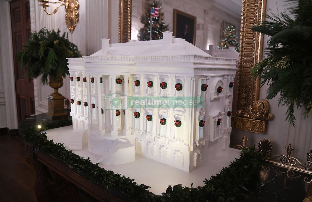 The White House Gingerbread House is seen in the State Dining Room of the White House in Washington, DC, November 27, 2017. . Photo by Olivier Douliery/Abaca Press