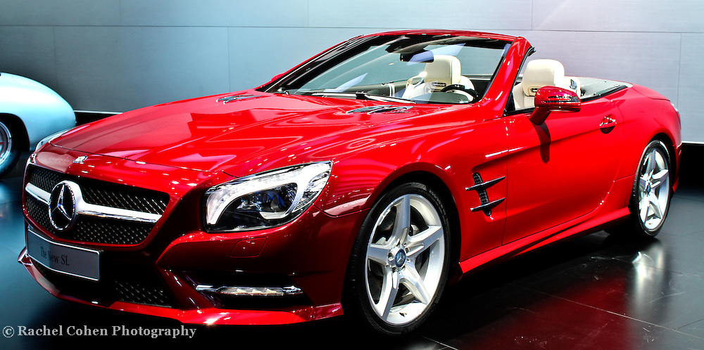 """""""Mercedes Convertible"""" <br /> <br /> A red hot Mercedes S Class convertible!! A beautiful luxury sports car!!<br /> <br /> Cars and their Details by Rachel Cohen"""