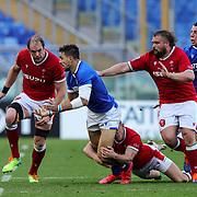 Roma 13/03/2021, Stadio Olimpico<br /> Guinness Six Nations 2021<br /> Italia vs Galles<br /> <br /> Mattia Bellini in offloads