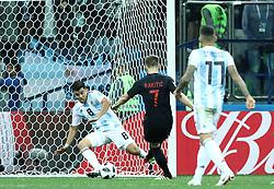 June 21, 2018 - Nizhny Novogorod, Russia - Group D Argentina v Croazia - FIFA World Cup Russia 2018.Ivan Rakitic (Croatia) scores the goal of 0-3 at Nizhny Novgorod Stadium, Russia on June 21, 2018. (Credit Image: © Matteo Ciambelli/NurPhoto via ZUMA Press)