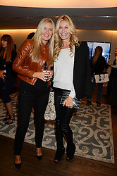 Left to right, AMANDA WAKELEY and MELISSA ODABASH at a reception to launch the range of Dr Lancer beauty products held at The Penthouse, Harrods, Knightsbridge, London on 16th September 2013.