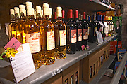Banyuls Blanc. Domaine Pietri-Geraud Roussillon. The wine shop and tasting room. France. Europe. Bottle.