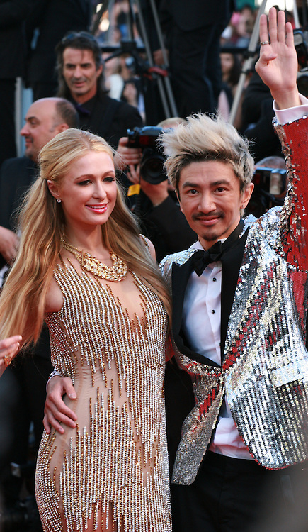 Paris Hilton and guest at the gala screening for the film Inside Out at the 68th Cannes Film Festival, Monday May 18th 2015, Cannes, France