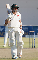 Zimbabwe batsman Graeme Cremer in action during the third day of the 100th test match for Zimbabwe played in a series of two matches with Sri Lanka at Harare Sports Club 31 October 2016.