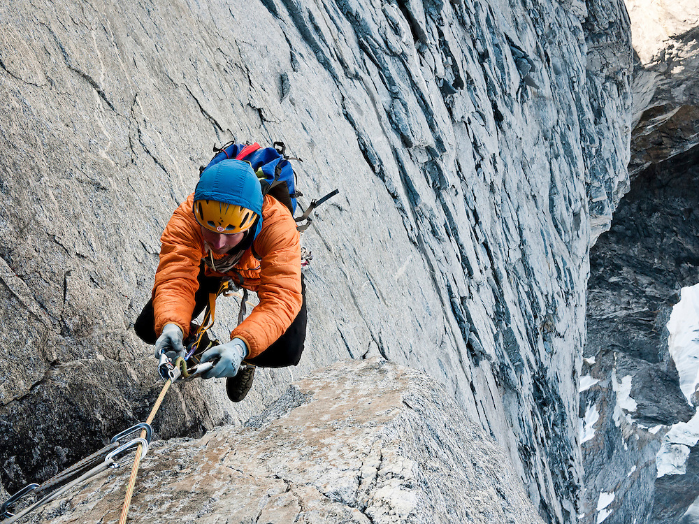 Colin Haley on the Devis Thumb traverse.