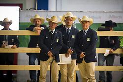 Judges - Horse Inspection Reining  - Alltech FEI World Equestrian Games™ 2014 - Normandy, France.<br /> © Hippo Foto Team - Dirk Caremans<br /> 25/06/14