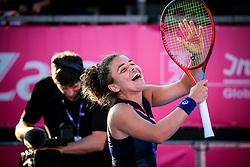 PORTOROZ, SLOVENIA - SEPTEMBER 18: Jasmine Paolini of Italy celebrates during the Semifinals of WTA 250 Zavarovalnica Sava Portoroz at SRC Marina, on September 18, 2021 in Portoroz / Portorose, Slovenia. Photo by Matic Klansek Velej / Sportida