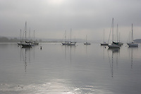 Cloudy morning on the Connecticut River at Essex Harbor, Essex, CT.